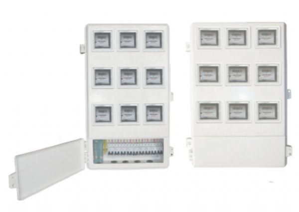 厂家生产优质玻璃钢电表箱LA-JD-AX9,农网改造供电公司专用玻璃钢SMC电表箱,供电局专用玻璃钢电能表计量箱