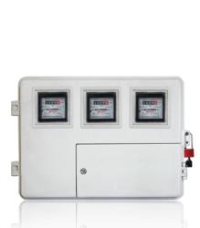玻璃钢电表箱LA-JD-AX小3,厂家供应电网专用3表位玻璃钢电表箱,玻璃钢电力计量箱