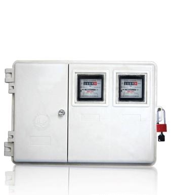 厂家供应玻璃钢电表箱LA-JD-ZY2,农网专用2表位玻璃钢绝缘电表箱,国网玻璃钢电力计量箱