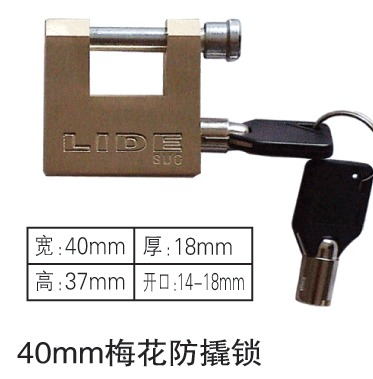 低价销售40mm梅花防撬挂锁,一把钥匙通用锁,国网专用通开电力表箱锁