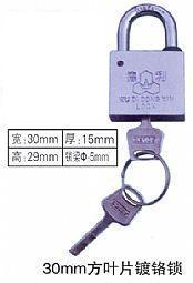 厂家供应优质30mm叶片挂锁,农网改造招标塑钢电力梅花表箱锁,通用塑钢电力表箱锁