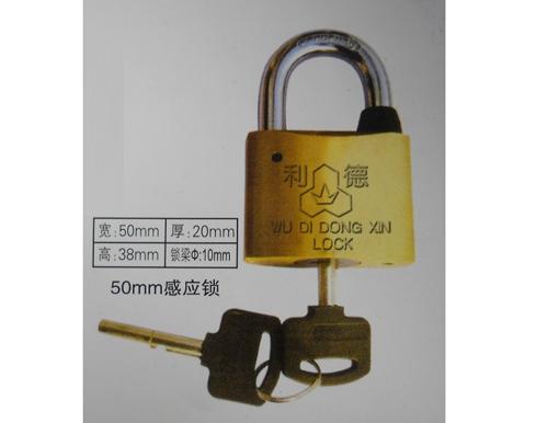 厂家供应50mm感应挂锁,电力计量箱通开挂锁,一把钥匙开多把锁,优质电力表箱锁厂家