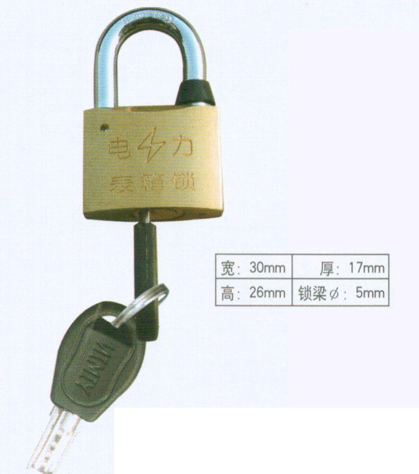 厂家低价销售30mm原子挂锁,农网改造电表箱专用通开挂锁,电力表箱锁厂家