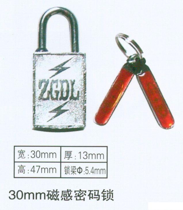 厂家生产30mm磁感密码锁,一把钥匙通用磁锁,一把钥匙开多把磁锁,电力专用磁锁